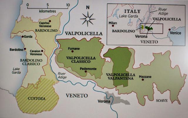 Mapa da região de Valpolicella