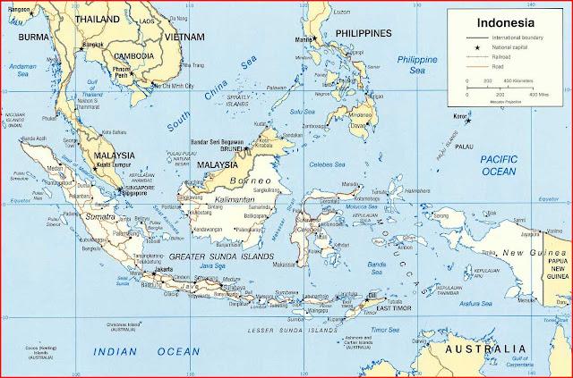 Gambar Peta Politik Indonesia