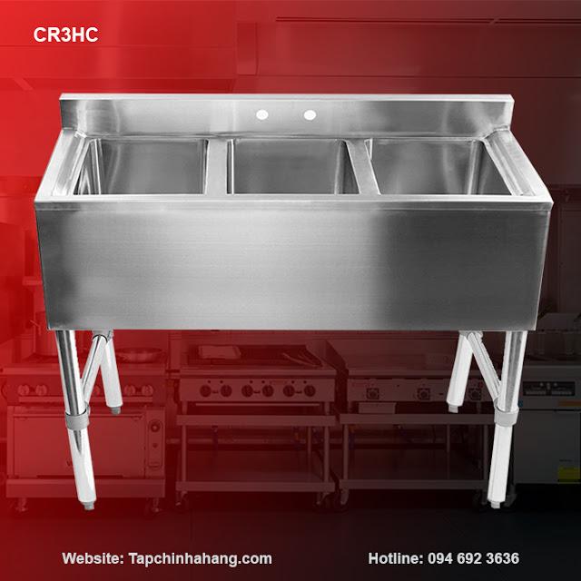Bồn rửa inox 3 hố CR3HC