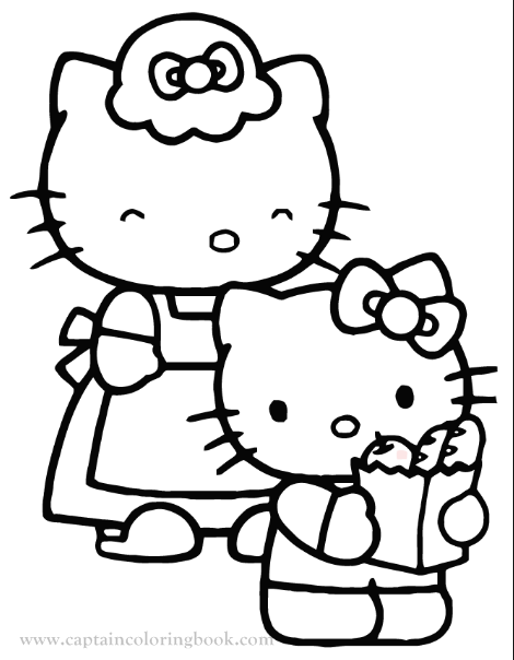Coloring Pages Hello Kitty Free Pdf