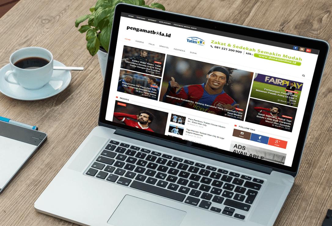 Website Pengamat Bola.ID Design by JL KEREN Creative