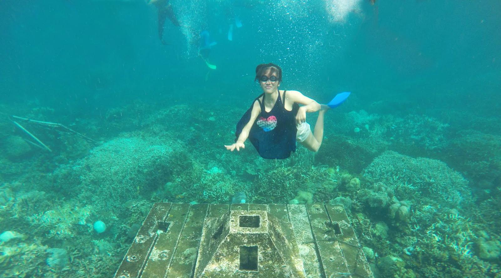 destinasi wisata indonesia 2015 pulau pahwang cewek igo diving manis di pulau pahawang