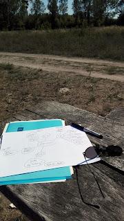 Mind Mapping im Freien