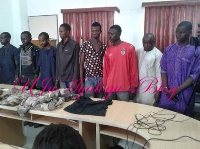Police Arrest Eight Notorious Abuja-Kaduna Expressway kidnappers (Photos)