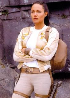 Angelina Jolie in costume in Lara Croft Tomb Raider: The Cradle of Life movieloversreviews.filminspector.com