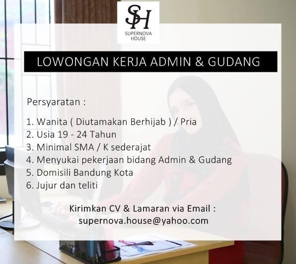 Lowongan Kerja Admin dan Gudang