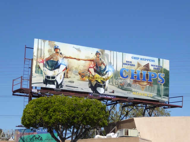 Chips 2017 movie billboard