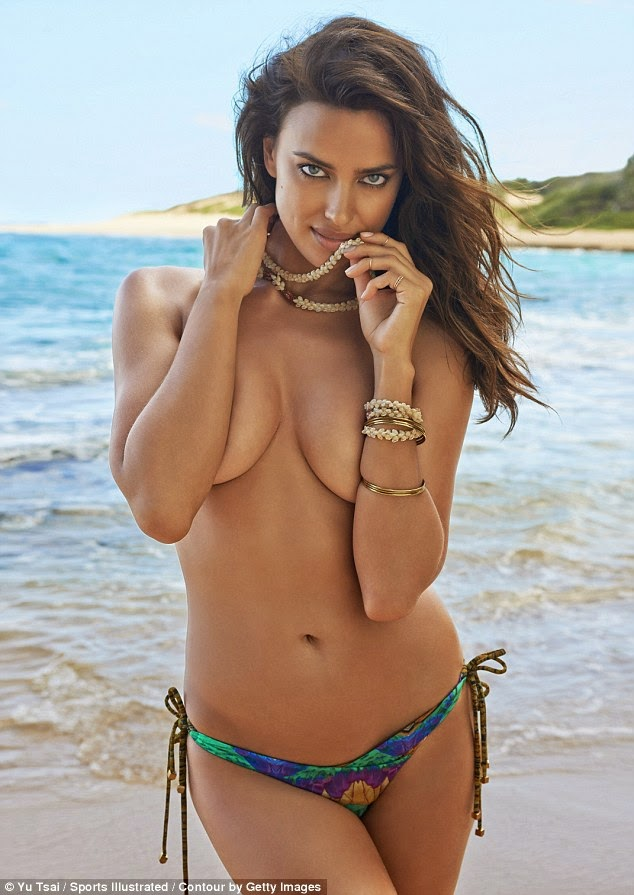 Irina Shayk topless sports Illustrated issue