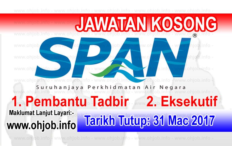Jawatan Kerja Kosong SPAN - Suruhanjaya Perkhidmatan Air Negara logo www.ohjob.info mac 2017