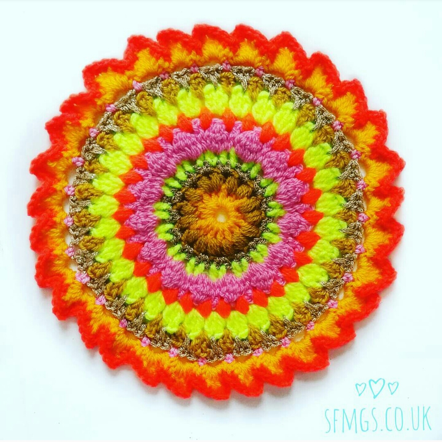 mandala crochet pattern free tutorial yarn bright boho craft creative