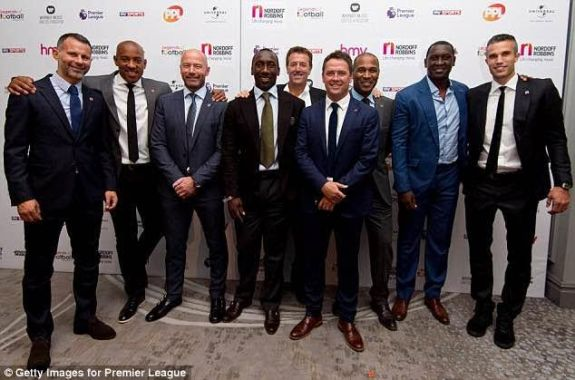 Nine premier league football legends share 1260 goals between them in one photo