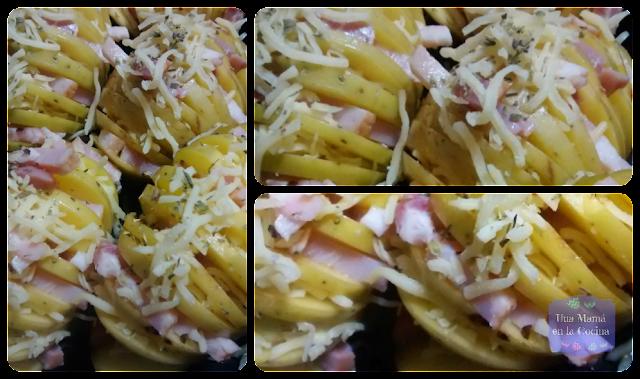 Patatas Rellenas Horno Bacon Queso Preparación receta