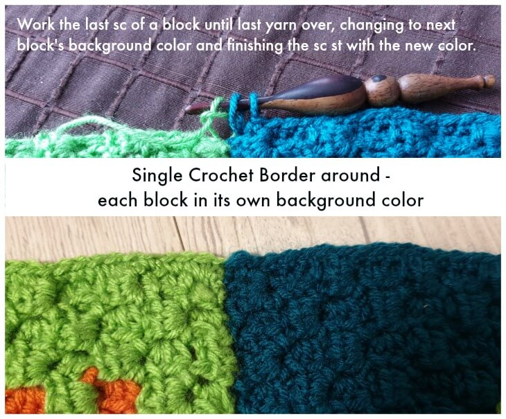 Single Crochet Border Round 1