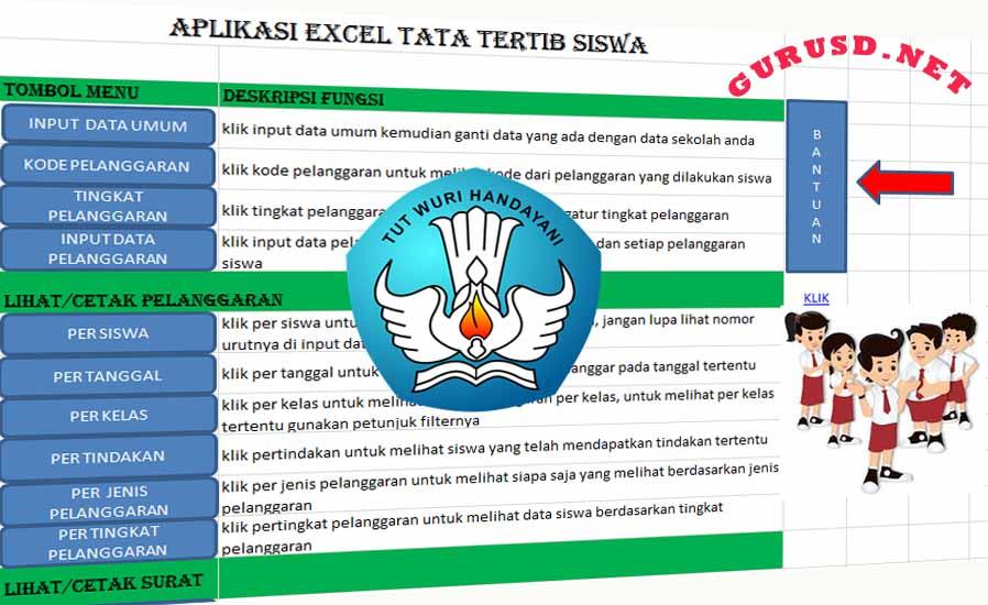 Tata Tertib Siswa Dalam Aplikasi Excel Otomatis Di Sertai Grafik Perkembangan Kurikulum 2013