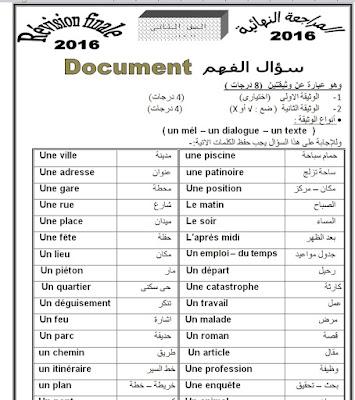 مراجعة ليلة الامتحان اللغه الفرنسية للصف الثاني الثانوى الترم الأول والثاني 2019