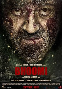 Bhoomi next upcoming movie first look, Poster of Sanjay Dutt and Sayyeshaa Saigal download first look Poster, release date