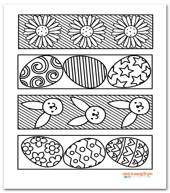 photo about Printable Coloring Bookmarks called Cost-free Printable Easter Coloring Bookmarks i really should be