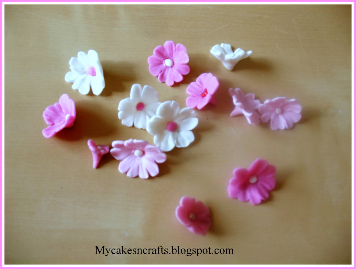 Making Cherry Blossom Flowers For Cakes