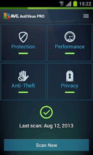 AVG AntiVirus Pro Android Security تحميل تطبيق مكافحة الفيروسات انتى فايرس برو 2019 لهواتف الاندرويد والتابلت اخر اصدار مدفوع