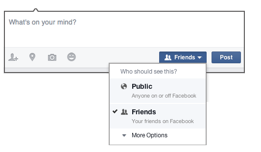 When I post something on Facebook, how do I choose who can see it?