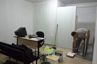 Pintura da sala de recepção