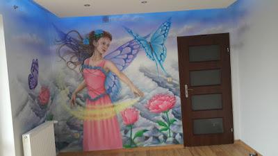 Mural w pokoju nastolatki, artystyczne malowanie ścian dla dzieci, malowidło ścienne w pokoju dziecięcym, malowanie pokoi dziecięcych, murale dla dzieci, graffiti dla dziecka