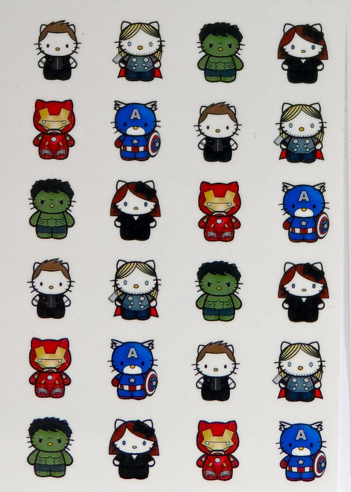 Just Me and My Nails: Hello Kitty as Captain America and ...