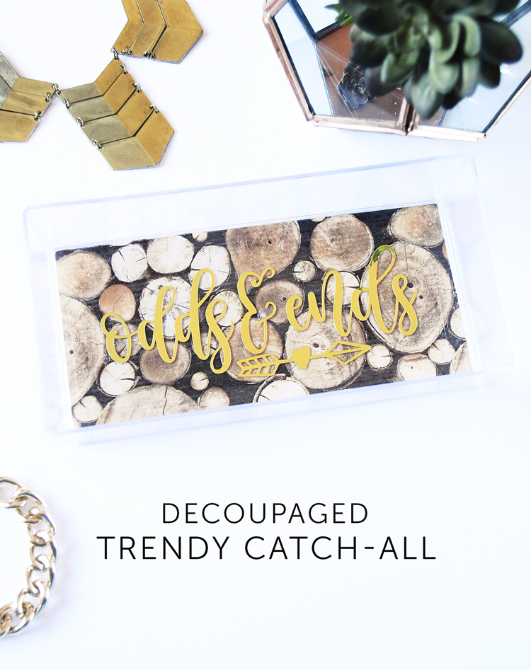 trendy acrylic catch-all