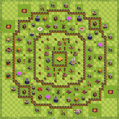 War Base Town Hall Level 11 By Eyeshield (hdv TH 11 Layout)
