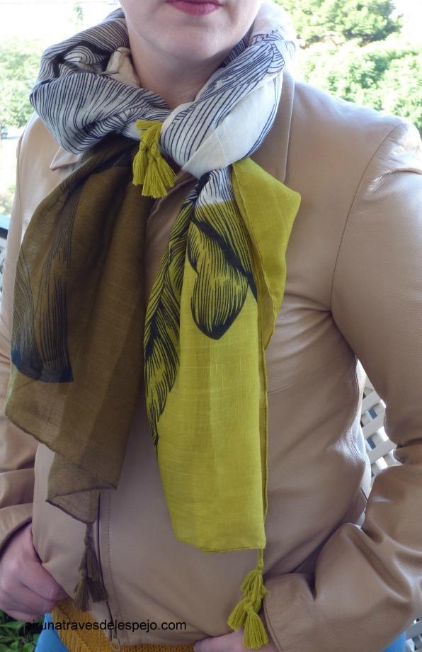 pañuelo zaful verde pashmina
