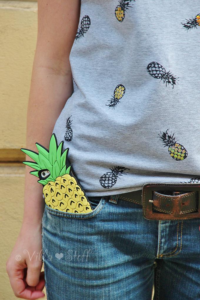 DIY | Ananas Shirt mit Glitzer Pailletten selber nähen