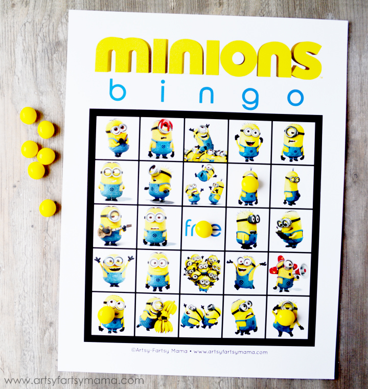 picture about Spring Bingo Game Printable identified as Totally free Printable Minions Bingo artsy-fartsy mama