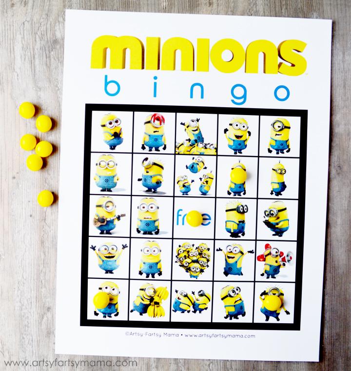 Free Printable Minions Bingo artsy-fartsy mama