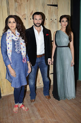 Saif Ali Khan & Ileana DCruz on the sets of 'Ajeeb Daastaan Hai Ye'