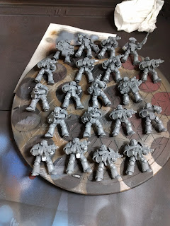 20 MkIII Marines ready for priming and painting.