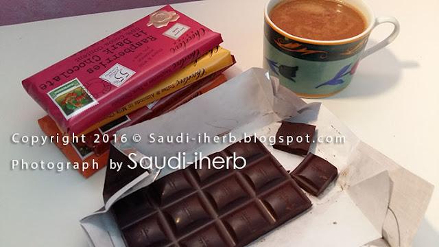 شكل لوح شوكولاتة غامق طبيعي