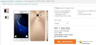 Harga Samsung Galaxy J3 Pro di Lazada