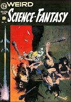 Weird Science-Fantasy v1 #29 ec comic book cover art by Frank Frazetta