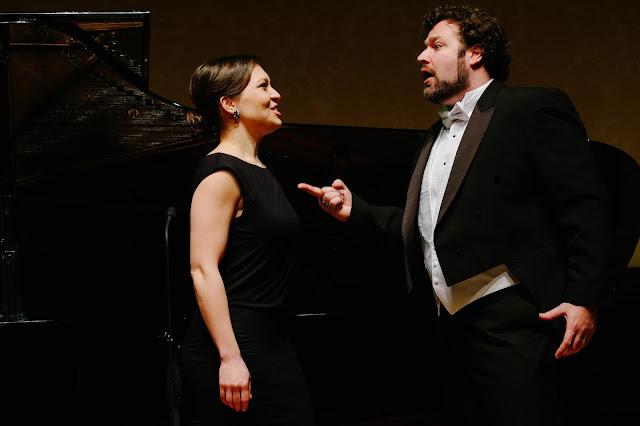Irene Roberts and Bryan Hymel in the final scene of Bizet's 'Carmen' at Rosenblatt Recitals - photo Jonathan Rose