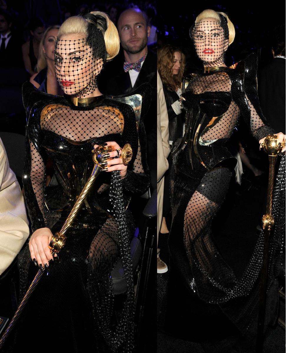 Lady+Gaga+In+custom+Versace+-+2012+Gramm