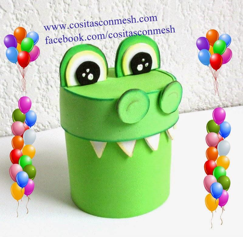 Manualidades dulcero cocodrilo reciclaje cositasconmesh - Manualidades faciles reciclaje ...