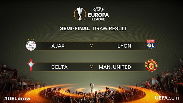 Confrontos das semifinais da Europa League são sorteados