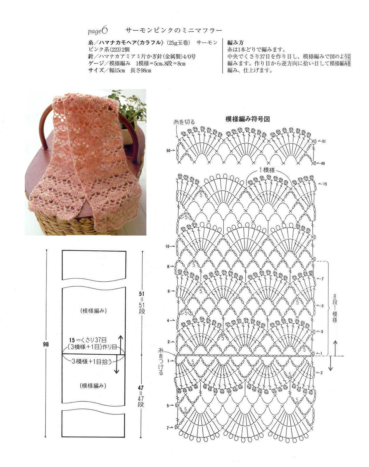 Famoso Patrón De Crochet Bufanda Ideas - Manta de Tejer Patrón de ...