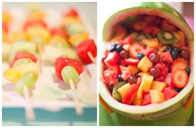 fruit at baby shower, food ideas for a baby shower table, baby girl