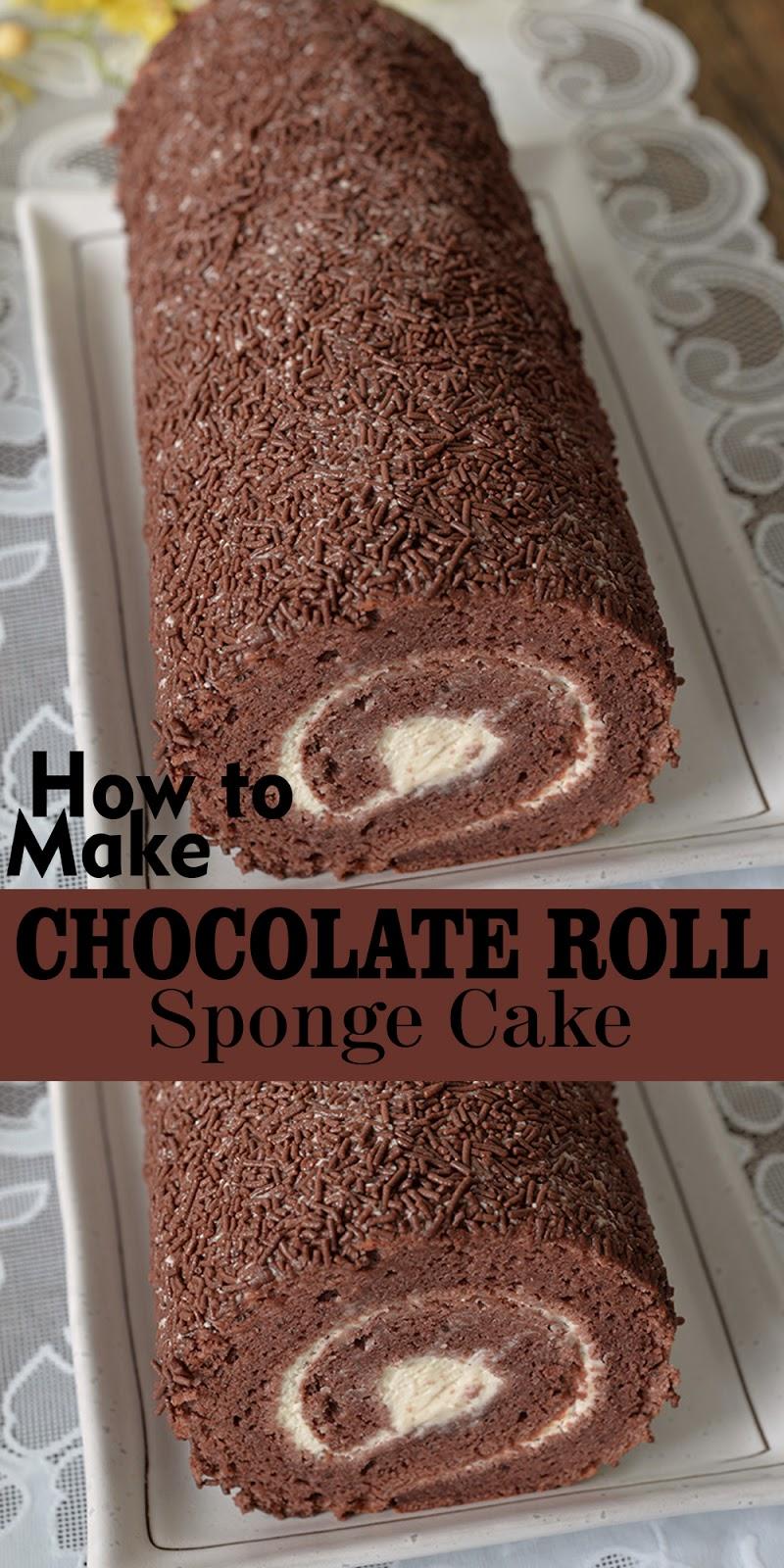 CHOCOLATE ROLL SPONGE CAKE
