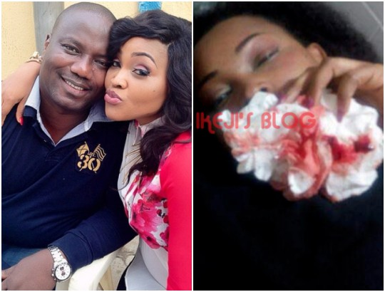 How can my wife of 10 years say I beat her and still stay till now - Mercy Aigbe's husband