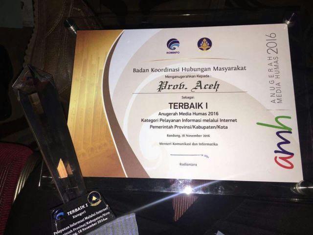 Aceh Raih Predikat Terbaik Pertama di Ajang AMH 2016