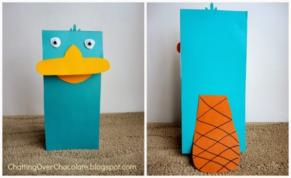 Perry the Platypus Paperbag Puppet