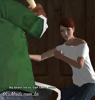 gta sa mod amazing player female remastered cj mulher