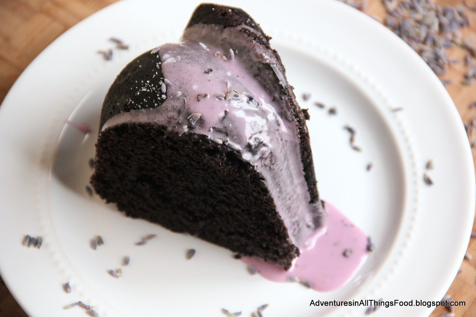 Adventures in all things food: Hot Chocolate Lavender Bundt Cake ...